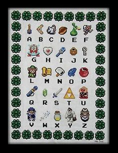 If we do a Zelda-style baby room, this would be PERFECT.  #zelda #nintendo #alphabet