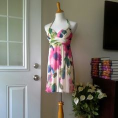 CITY STUDIO DRESS Beautiful soft stretchy knit material . Dress with halter style.  Length is about 36 inch. City Studio Dresses Mini