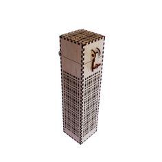 Wooden laser cut box