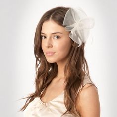 Debut Ivory meshed flower clip- at Debenhams Mobile