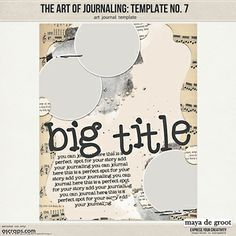 The Art of Journaling Template no. 7