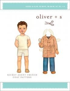 purl soho   products   item   secret agent trench coat pattern (oliver + s)