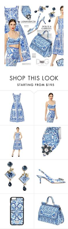 Maiolica Printed by pisces7 on Polyvore featuring moda, Dolce&Gabbana, women's clothing, women's fashion, women, female, woman, misses, juniors and dolceandgabbana
