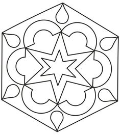 Printable Design Patterns | Rangoli design coloring printable Page for kids 2: Rangoli designs ...