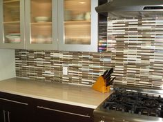 kitchen backsplash odd shape tile |  yet to come across this