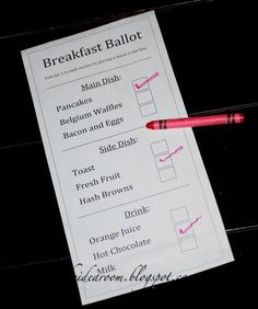 this could be a fun way to start the voting day activities :-)
