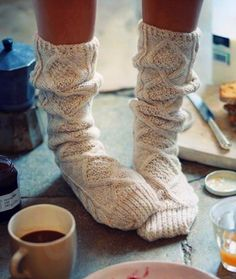 cozy socks.