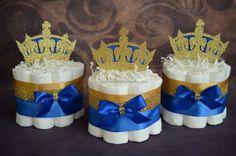 Royal Prince Diaper Cake/ Little Prince Baby Shower/ Crown Diaper Cake/ Royal…