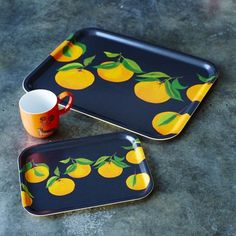 Oranges Trays - Her - Gifts For. Dining Ware, Dining Room, Kitchen Tray, Bed & Bath, Serving Dishes, Kitchen Accessories, Trays, Lunch Box, Entertaining