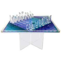 Vasarely Chess Set, 1979 | From a unique collection of antique and modern decorative objects at https://www.1stdibs.com/furniture/more-furniture-collectibles/decorative-objects/