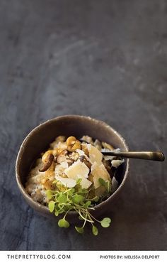 A delicious earthy mushroom risotto recipe | Photograph by Melissa Delport - The Truffle Journal |  http://www.theprettyblog.com/food/go-wild-for-this-earthy-mushroom-risotto/