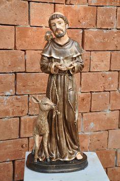 imagem de são francisco de assis barroca - Pesquisa Google Santa, Statue, Plastering, Angels, Garden, Baroque, Blessed, Sculptures, Sculpture