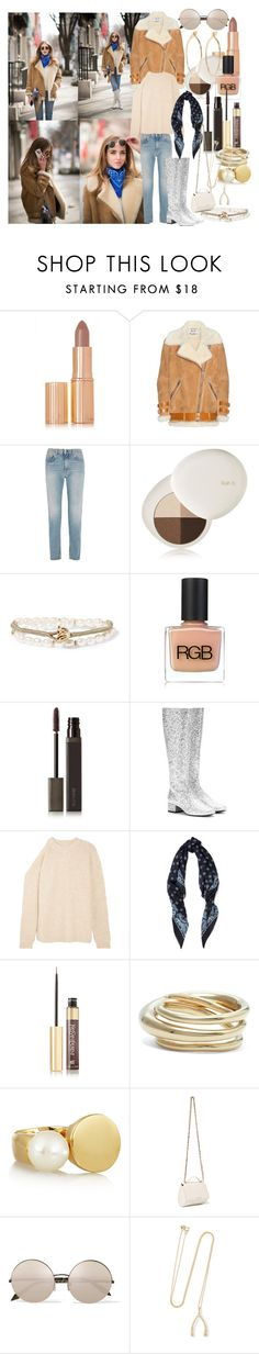 """A Touch of Glitter"" by brownish ❤ liked on Polyvore featuring Charlotte Tilbury, Acne Studios, lilah b., Katerina Makriyianni, RGB Cosmetics, Laura Mercier, Yves Saint Laurent, TIBI, Charlotte Chesnais and Chloé"