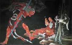 弘法大師修法図 / Kobo Daishi double diagram, 1844 by Katsushika Hokusai