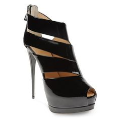 Fabulous Giuseppe Zanotti bootie sandals with a zipper at the heel & a maxi platform