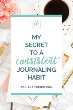 Do you want to get into the habit of journaling? Click through to learn how to start a consistent journal habit for business productivity. Learn how to easily stick to your new journaling habit. | Small Business Tips Business Goals, Business Planning, Business Tips, Keeping A Journal, My Journal, Journal Template, Yesterday And Today, Start Writing, Consistency