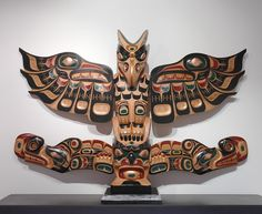 Thunderbird Sisuitl Totem Pole by Patrick Hunt, Kwakwaka'wakw artist (W61216)