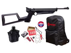 Crosman Doomsday Bug out Air Rifle Kit - Caliber for sale online Bug Out Kit, Canteen Bottle, Ruger 10/22, Johnson City, Air Rifle, Fire Starters, Guns And Ammo, Survival, Bugs