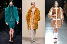 Prada, Bottega Veneta and Gucci furs in Milan.