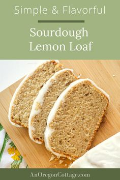 Here's one of the best lemon bread recipes that also uses up your sourdough discard - win-win! We love it for dessert or an afternoon snack, especially with the thick lemon glaze. An easy mix-pour-and bake recipe. Easy Bread Recipes, Whole Food Recipes, Fall Recipes, Sourdough Waffle Recipe, Best Bread Machine, Quick Healthy Snacks, Homemade Muffins, Lemon Bread, Trifle Pudding
