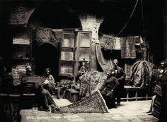A carpet market in Grand Bazaar, İstanbul, 1880′s