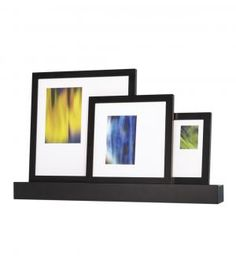 This set is a no-brainer when it comes to determining how to display the trio of frames. Already matted to fit traditional picture sizes, the frames can rest atop the included shelf to give your flat wall some three-dimensional flair.