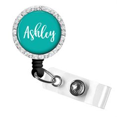 342A Personalized Badge Reel Badge Holder Black Background /& Multicolored Dots