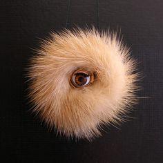 Eye Brooch Furry & Blinking by MilkTart on Etsy,