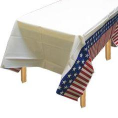 AMERICANA   PLASTIC TABLE COVER