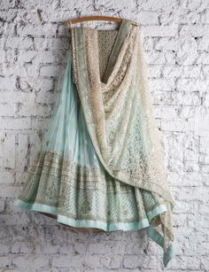 Mint lengha for the holidays would be gorgeous | browngirl Magazine Insta- @browngirlmag