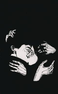 Pin by judy rudig on illustration in 2019 искусство портрета Art And Illustration, Inspiration Artistique, Art Watercolor, Arte Sketchbook, Photo Images, Art Graphique, Dark Art, Art Inspo, Line Art