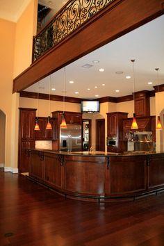 Kitchen under walkway! Amazing detail! #kitchen
