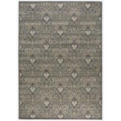 Nourison Graphic Illusions Paisley Multi Grey Rug (5'3 x  7'5)
