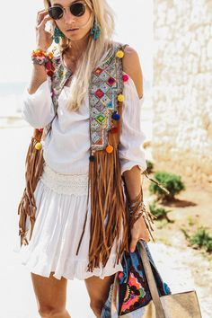 Boho Chic In Ibiza Fasching Boho Chic Boho Und Boho Fashion