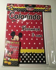 kit de colorir Mickey vermelho