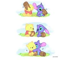 Baby stitch and pooh
