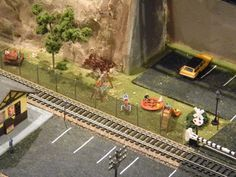 model train layout with mountains :)