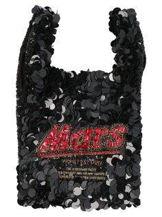 Shop Anya Hindmarch 'anya Brands Mars' Bag and save up to EXPRESS international shipping! Anya Hindmarch Fashion, Bar Logo, Looks Cool, World Of Fashion, Luxury Branding, Mars, Shopping, Black, Products