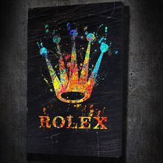 Rolex Modern Wall Art Large Framed Canvas Paintings On Sale (ArtworkAddict. com) FREE Next Day Shipping. Easy Returns & Money Back Guarantee! Frames For Canvas Paintings, Canvas Artwork, Canvas Frame, Hall Painting, Tableau Pop Art, Mickey Mouse Art, Trippy Drawings, Graffiti Wall Art, Small Canvas Art