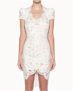 BNWT Lover The Label by Susien Chong Rosebud Lace White Dress Size 8 $