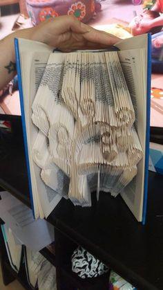 Book Folding Pattern - Heart Tree - 408 Folds - Instant Download - Measure, Mark & Fold