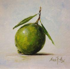 Lime Original Oil Painting by Nina R.Aide Still by NinaRAideStudio Still Life Fruit, Oil Painters, Fruit Art, Kitchen Art, Botanical Prints, Beautiful Artwork, Lime, Acrylics, Steam Profile