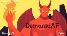 DemonicAF.com is available. #demon #demonic #AF #cryptosolicitations #forsale #slangdomains #dotcom Pikachu, Dots, Movies, Movie Posters, Fictional Characters, Stitches, Films, Film Poster, Cinema