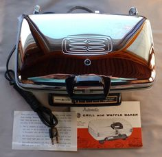 NEW Vintage GE Automatic Grill Waffle Maker Baker G42K Reversible Grids  #GeneralElectric
