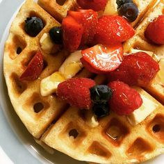 Not sure why I feel so guilty for disappearing for one night to go to a 50th birthday leaving my daughter to spend the night with her grandparents but I do. To make up for the mommy guilt she gets these for breakfast - which Ive convinced myself arent too bad because theres fruit right? #itsalmosttheweekend #mommyguilt #breakfast #waffles #lotsofcalories #notthathealthybuttasty #homemadewithlove #inthekitchen #amcooking