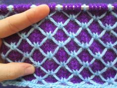 Multi Color Slipped Stitch: Scales Pattern