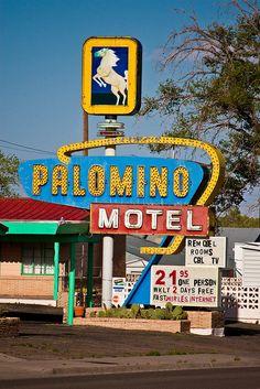 Palomino Motel - Route 66, Tucumcari, New Mexico. Photo credit TooMuchFire on Flickr