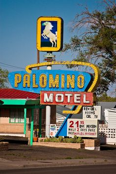 Palomino Motel - Route 66, Tucumcari, New Mexico. Photo credit TooMuchFire on Flickr