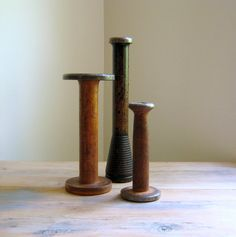 Vintage Bobbin Collection Textile Mill Spools (38.00 USD) by NaturalVintage