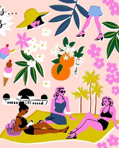 Part of an illustration for @curbed LA today to celebrate the first day of spring